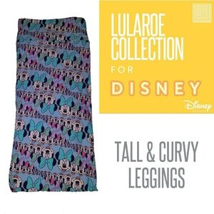 Lularoe Minnie mouse Leggings TC DISNEY